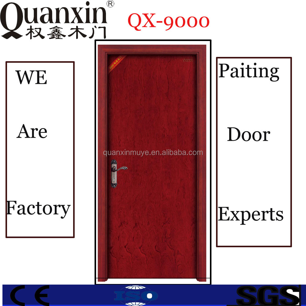 Prefinished solid core HDF door in guangzhou(QX9000)