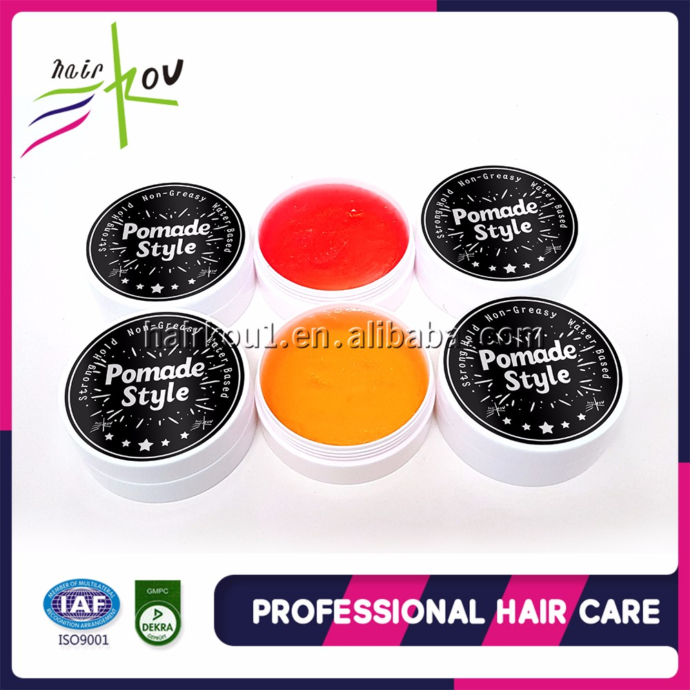 Custom logo strong hold water based wax form cologne hair pomade for men