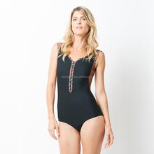 Wholesale printed sexy girls high cut out one piece swimsuit sexy bikini