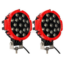 51w Red Round LED Work Light Spot Lamp IP67 Off Road Fog Driving Roof Bar Bumper light 4x4 Jeep UTV Razor Raptor Tractor Polaris