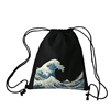 Durable drawstring cotton canvas sports backpack bag