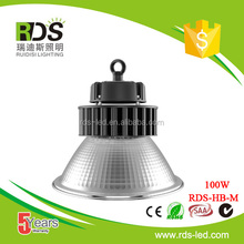 Low price 60w to 200w ce rohs 100lm/w 100w led high bay light