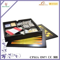 exquisite wooden box style 7 in 1 multiple board game