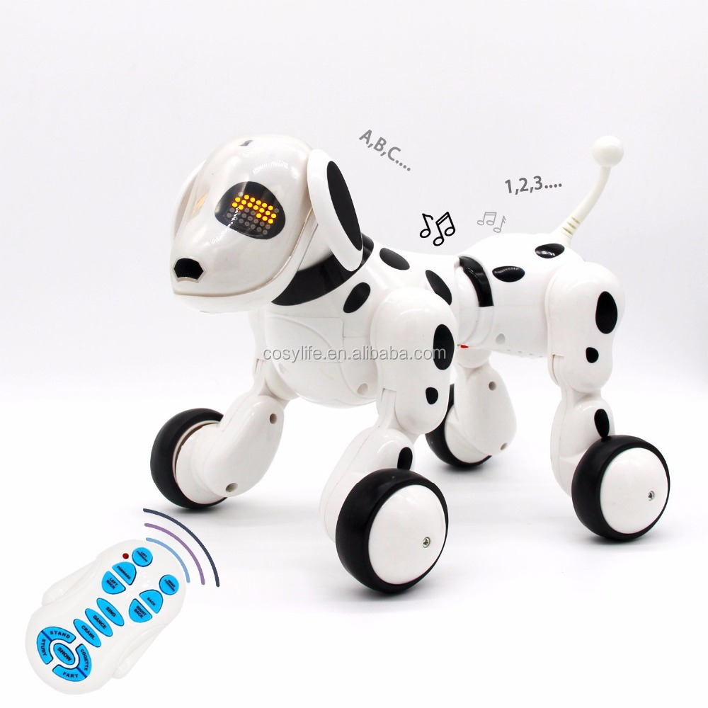 Wireless Remote Control Robot Dog Interactive Puppy Dog For Kids, Children,Girls, Boys (White)