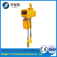 ISO Certification Yellow 2T Construction Mini Electric Chain Hoist block