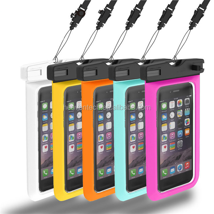 Hot product IPX8 Certified universal custom PVC cell phone Waterproof case for iPhone 6