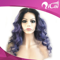 High Quality Three Parting Line Wig,Two Tone Virgin Remy Full Lace Wig