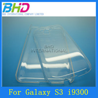 plastic blank transparent hard clear case for samsung galaxy s3 i9300