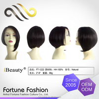 100% human hair short lace front wigs for black women, unprocessed human hair wig, top closure lace wigs