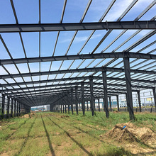 Good quality light steel prefab workshop house with steel roof shade structures