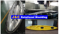 single plastic rotational kayak mould and casting aluminum rotational boat mould