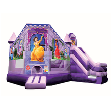 Brand new type trampoline playhouse frozen inflatable bouncer jumping castle slide combo