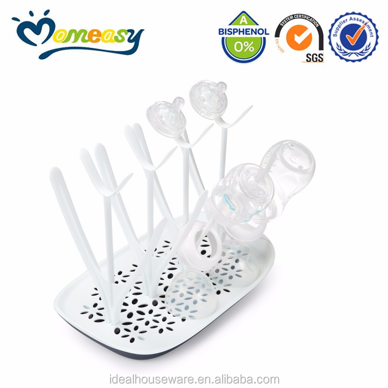 Baby bottle drying rack set