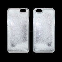 glitter case for iphone 6,clear pc cell phone case for iphoen6