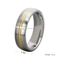 Professional Ring Factory Offer 18K Gold Plating Stainless Steel Ring