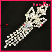 Clear meteor pearl necklace rhinestone brooch WBR-767