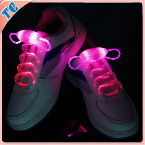 2016 Custom logo LED flashing shoelace for running