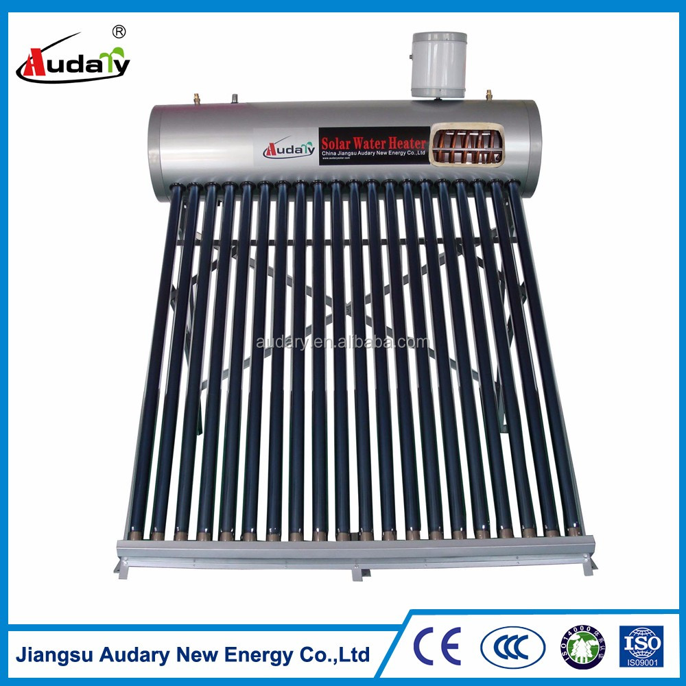 pre-heated vacuum tube solar boiler with copper coil
