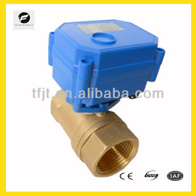 2way DC12V DN25 - Both Female Normal closed motor ball valve with capacitor inside
