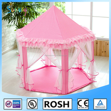 Children Indoor Play Tent Princess Castle Playhouse for Kids Pink with Storage Bag