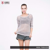 new style best quality ladies hand knitted sweater