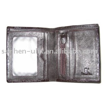Men's Wallet, Made of Genuine Leather, PVC or PU, Available in Various Colors and Sizes