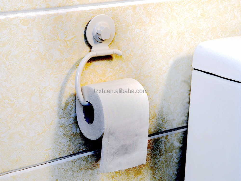 Bathroom suction cup plastic Toilet roll Paper Holder