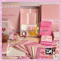 Simple Elegant Customized BCP Baby Girl Card kits for Scrapbook