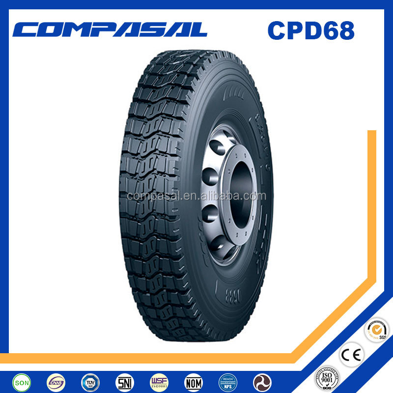 Best Quality Chinese COMPASAL Heavy Duty Truck Tires 1000r20 10.00r20 10x20 1100r20 11.00r20 11x20 Steer/Drive tyre for sale