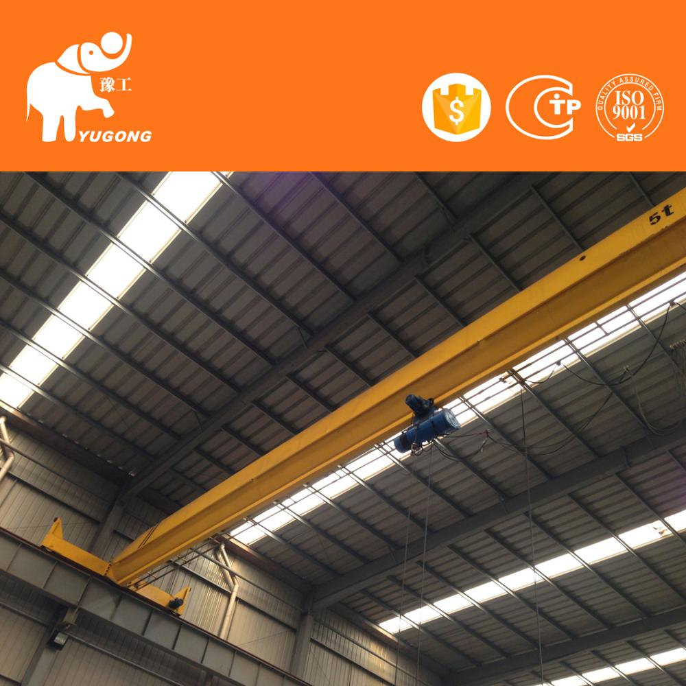 Hot 16T Traveling Commercial Grade 3.2T Single-Beam Overhead Crane Stru System