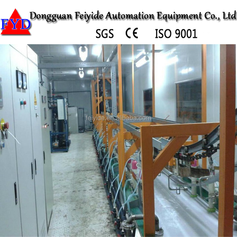 Feiyide Automatic Electrophoresis coating Equipment line for stainless steel alloy iron