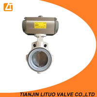 Auto electric industry small wafer type PN16 viton butterfly valves