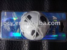 new product auto PU ball car air freshener with net and cupula ,6cm round