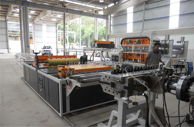 China Plastic PVC+PMMA/Asa Glaze ,Corrugated Roof Tile Forming Machinery Extrusion line