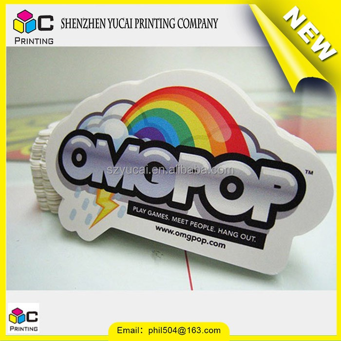 China supplier reflective sticker printing on hat and die cut paper sticker label printing