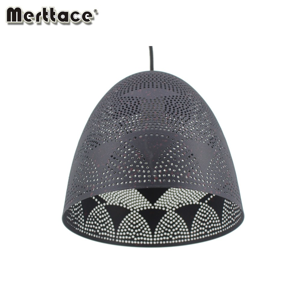 Dining Room Modern Etch Shade Cheap Metal Round Dot Pendant Lamp