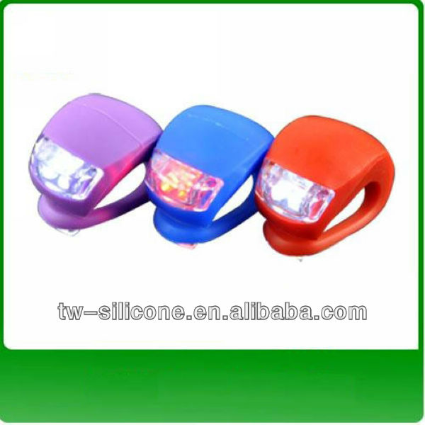 bright silicone skull bicycle light,bike accessories