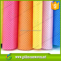 colorful spunbonded non-woven fabric fabricas de tela/PP nonwoven fabric for mattress,furniture,upholstery,bedding,bag,packing