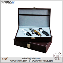 Fashion Wine Corkscrew Wedding Souvenirs Bottle Opener With Leather Box Package