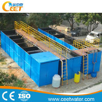 50tons/day leather factory waste water treatment machine, professional engineers guidance available
