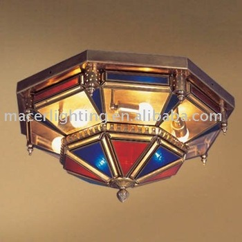 2014 handmade Moroccan style antique brass ceiling lamp