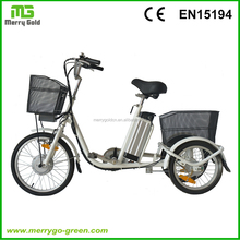 Popular factory price 20inch 250W Lithium Battery three wheel Electric Drift Trike for adults