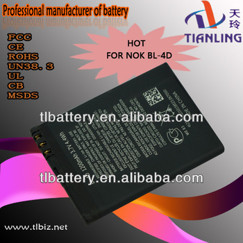 Bl-4d For Nokia N8 Battery 3.7v 1200 Mah Gb/t18287-2000 Cell Phone Battery