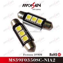39mm 5050 festoon LED automotive interior light, door signal light, ceiling lighting