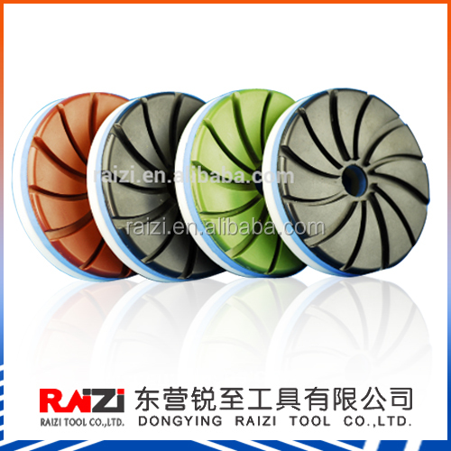 Automatic machine snail lock granite marble and engineered stone diamond polishing pad 5inch/125mm(5mm thickness)