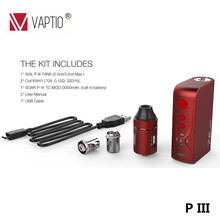 Hot sale ! Assembled all in one style easy change coil TC/VW mode 3000mah capacity vapor e-cigarettes kit wholesaler