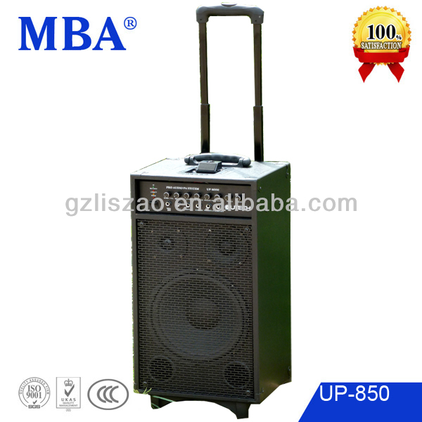 Popular outdoor speaker with ipod/USB/SD/FM/remote /wireless MIC