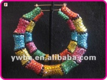 Nicki Minaj Poparazzi Basketball Wives Inspired Block Bamboo Earring (E101540)