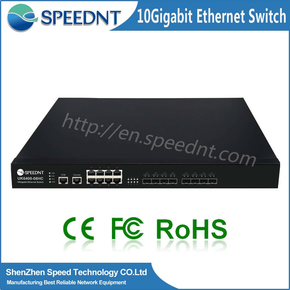Full stock factory price computer networking device 8 port switching IP multicast & QoS 8 port switching