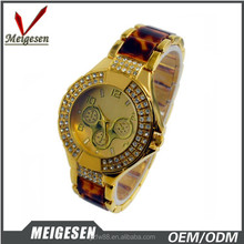 new vogue style fashion lady watches, alloy with plastic watches